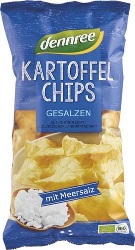 Chipsuri bio din cartofi cu sare 0