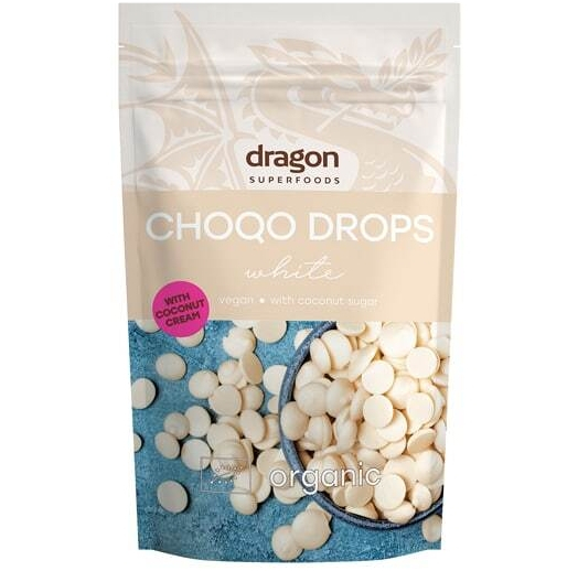 Choco drops White ciocolata alba eco 250g DS 0