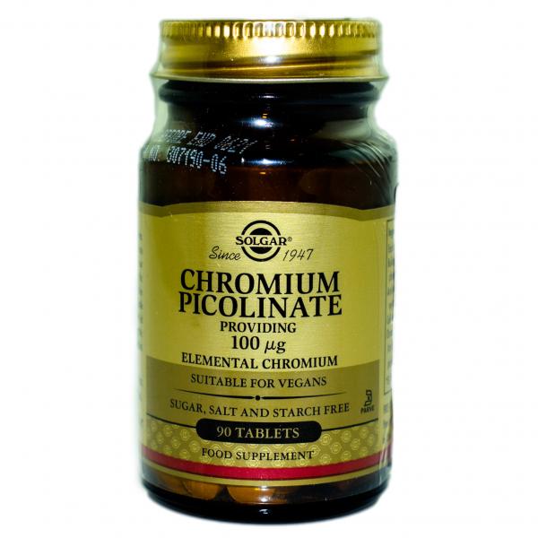 Chromium Picolinate 100mg 90 Veg Caps Solgar 0