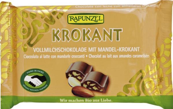 Ciocolată Bio Cristallino cu migdale crocante HIH 0