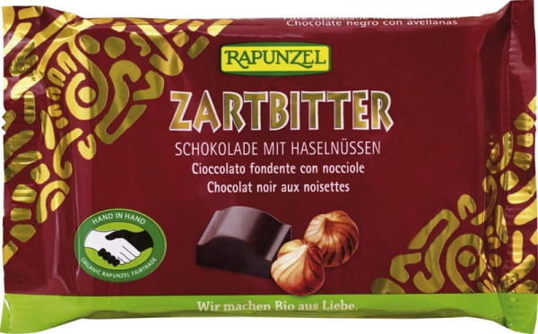 Ciocolata bio amăruie Cristalino 60% cacao si alune întregi HIH 0