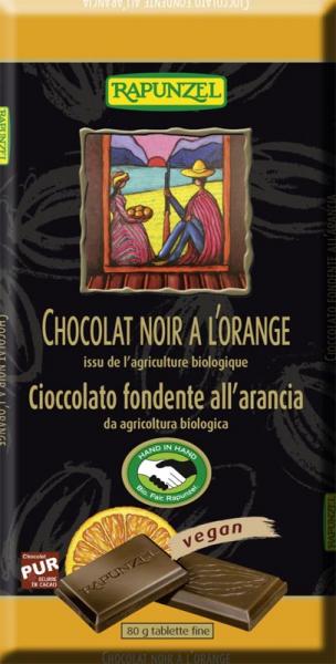 Ciocolata bio amăruie cu portocală si 55% cacao HIH 0