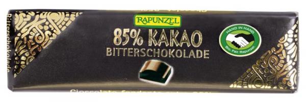 Ciocolata bio amăruie mică 85% cacao HIH 0