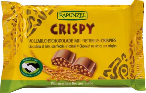 Ciocolata bio cu lapte integral crocantă HIH 0