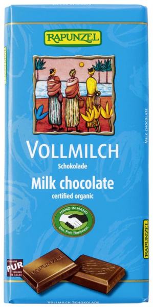 Ciocolata bio lapte integral HIH 0