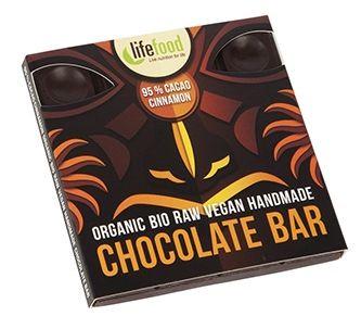 Ciocolata cu 95% cacao si scortisoara raw bio 35g 0