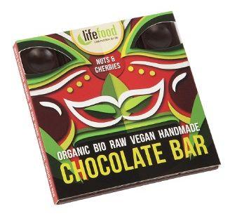 Ciocolata cu nuci si cirese raw bio 35g 0