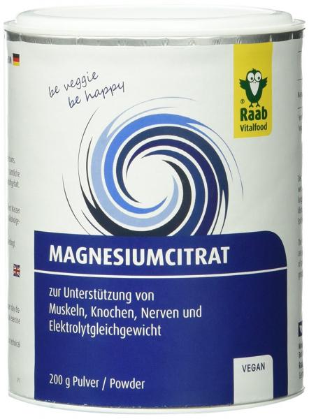 Citrat de magneziu pudra naturala 200g RAAB 0