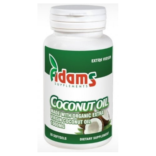 Coconut oil 1000mg 30 capsule, Adams Vision 0