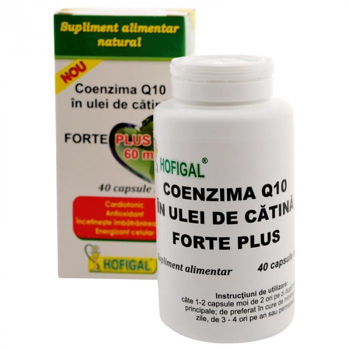 Coenzima Q10 în ulei de cătină Forte Plus 60mg, 40 capsule, Hofigal 0