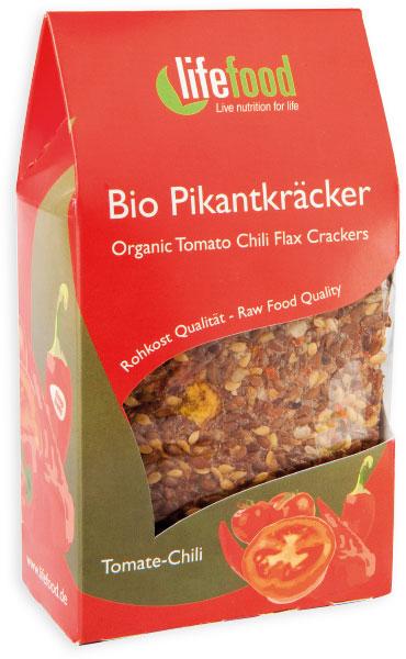 Crackers cu chilli si rosii raw bio 90g 0