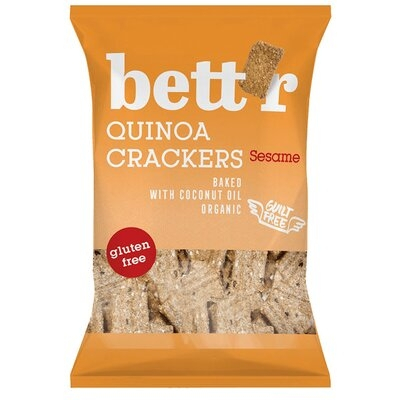 Crackers cu quinoa si susan fara gluten eco 100g Bettr 0