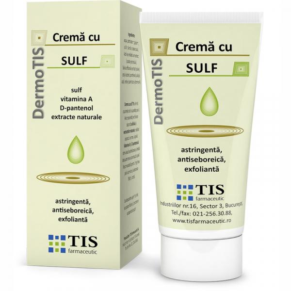 Cremă cu sulf DermoTis, 50 ml, Tis Farmaceutic [0]