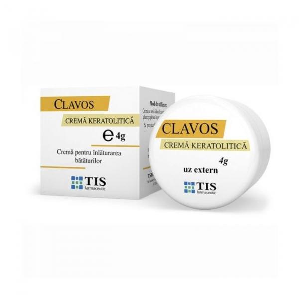 Cremă keratolitică pentru îndepărtarea bătăturilor Clavos, 4 g, Tis Farmaceutic 0
