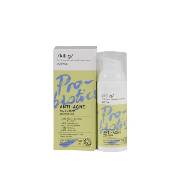 Crema de fata cu probiotice pentru ten sensibil si acneic, KILIG DERMA, 50 ml 0