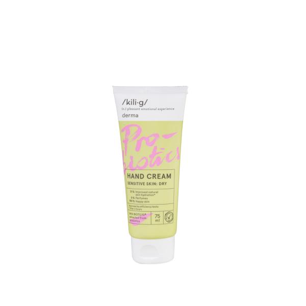 Crema de maini cu probiotice pentru piele sensibila, KILIG DERMA, 75 ml [0]