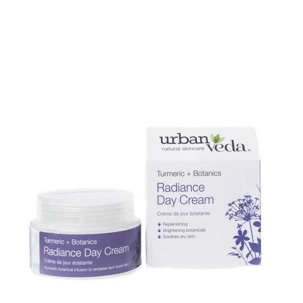Crema de zi nutritiva cu extract de turmeric organic - ten uscat, Radiance - Urban Veda, 50 ml 0