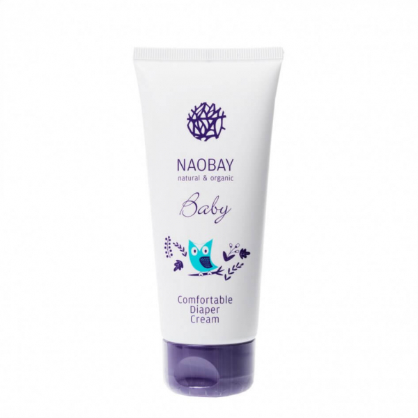 Crema organica emolienta impotriva iritatiei de scutec, Naobay, 100 ml 0