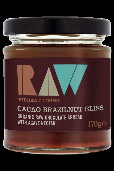 Crema tartinabila cu cacao si nuci braziliene raw eco 170g RAW Health 0