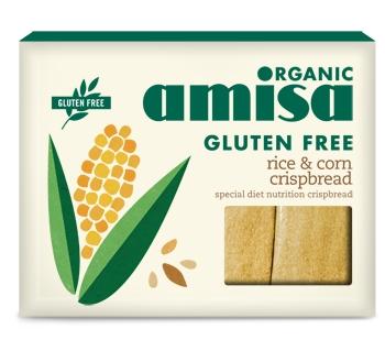 Crispbread (painici) din orez si porumb fara gluten bio 120g 0