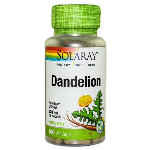 Dandelion (Păpădie) 520 mg Solaray, 100 capsule, Secom 0