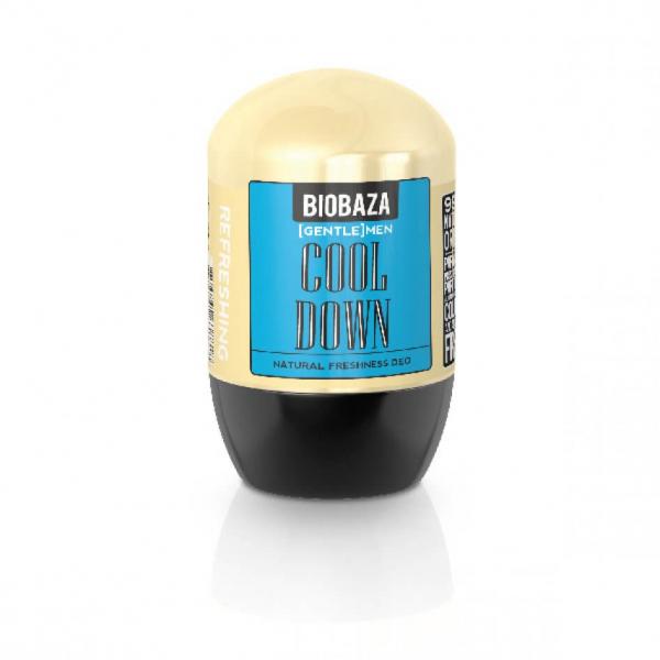 Deodorant natural pe baza de piatra de alaun pentru barbati COOL DOWN (menta), Biobaza, 50 ml [0]