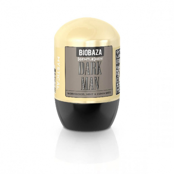 Deodorant natural pe baza de piatra de alaun pentru barbati DARK MEN (menta si chimion), Biobaza, 50 ml 1