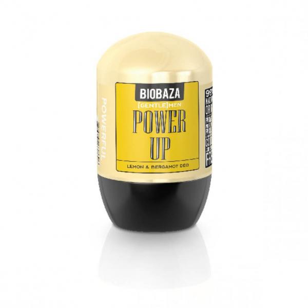 Deodorant natural pe baza de piatra de alaun pentru barbati POWER UP (lamaie si bergamota), Biobaza, 50 ml 1