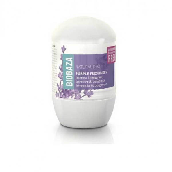 Deodorant natural pe baza de piatra de alaun pentru femei PURPLE FRESHNESS (lavanda si bergamota), Biobaza, 50 ml [0]