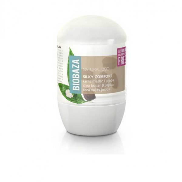 Deodorant natural pe baza de piatra de alaun pentru femei SILKY COMFORT (shea si jojoba), Biobaza, 50 ml [0]