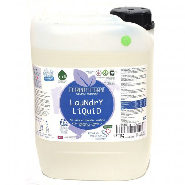 Detergent ecologic lichid pentru rufe albe si colorate lamaie 5L 0