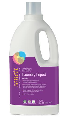 Detergent ecologic lichid pt. rufe albe si colorate cu lavanda 2L, Sonett 0