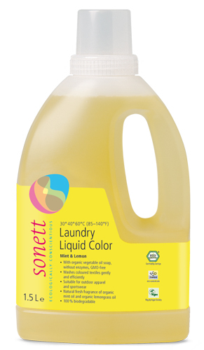 Detergent ecologic lichid pt. rufe colorate 1.5L Sonett 0