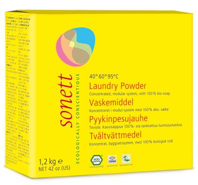 Detergent ecologic praf pt. rufe 1.2 kg Sonett 0