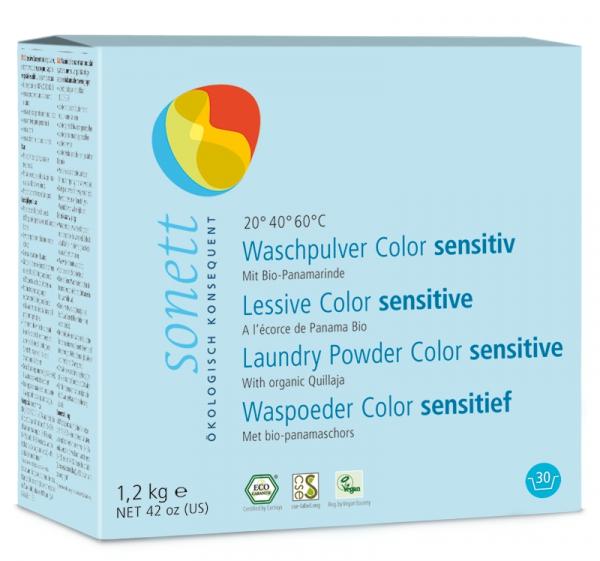 Detergent ecologic praf pt. rufe colorate, SENSITIVE 1.2 kg Sonett 0