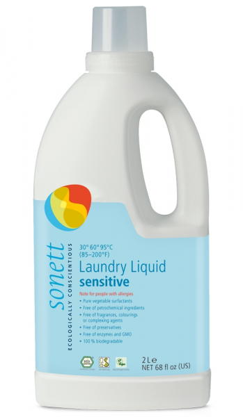 Detergent ecologic pt. rufe albe si colorate, SENSITIVE 2L, Sonett 0