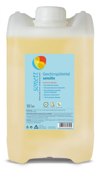 Detergent ecologic pt. spalat vase SENSITIVE, Sonett 10L 0
