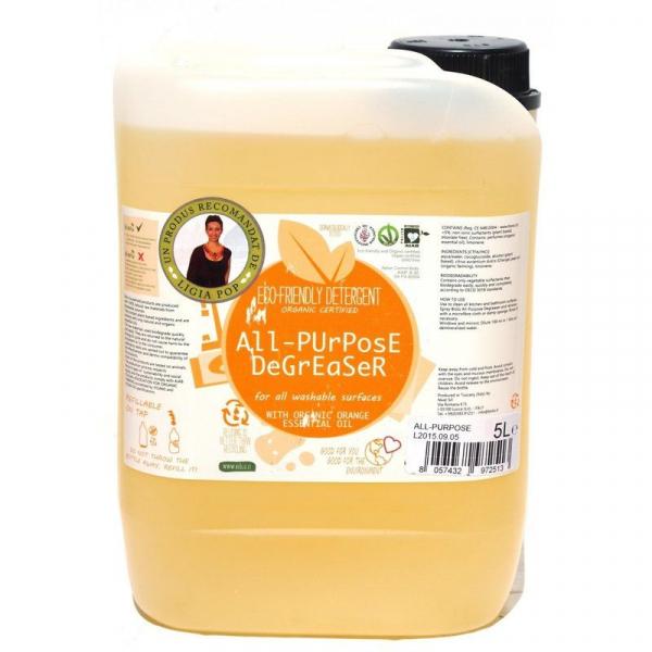 Detergent ecologic universal cu ulei de portocale 5L 0