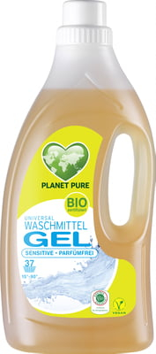 Detergent Gel bio de rufe hipoalergenic -fara parfum- 1.5L Planet Pure 0