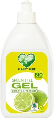 Detergent Gel bio pentru vase - lime si verbina - 500ml Planet Pure 0