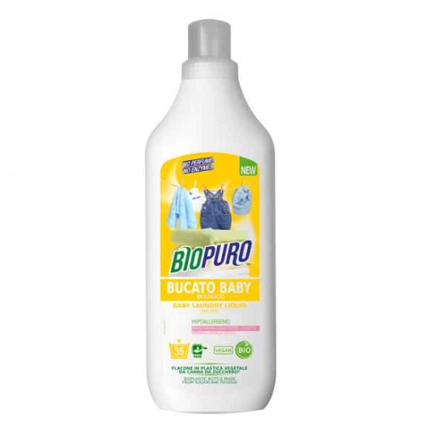 Detergent hipoalergen pentru hainutele copiilor bio 1L 0