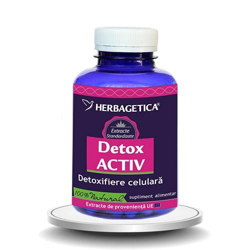 Detox activ, 120 capsule, Herbagetica 0