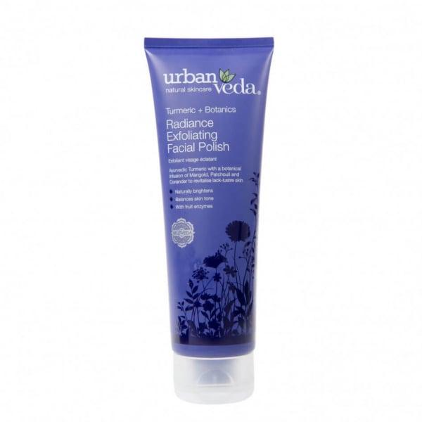 Exfoliant pentru curatare faciala cu extract de turmeric organic - ten uscat, Radiance - Urban Veda, 125 ml [0]