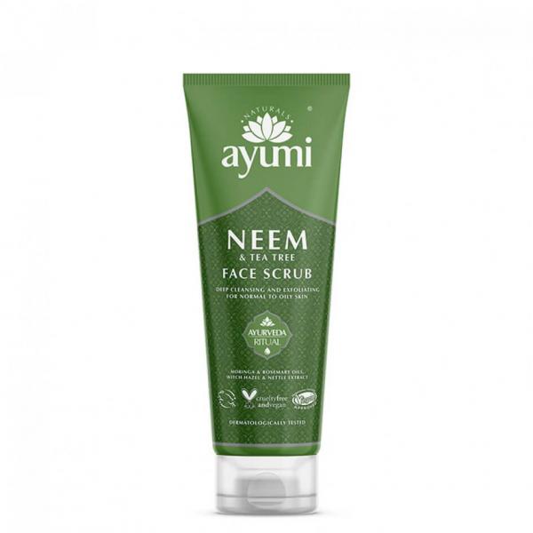 Exfoliant facial cu Neem Tea Tree, Ayumi, 125 ml 0