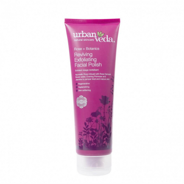 Exfoliant revitalizant pentru curatare faciala cu ulei de trandafir de Damasc - ten matur, Reviving - Urban Veda, 125 ml 0