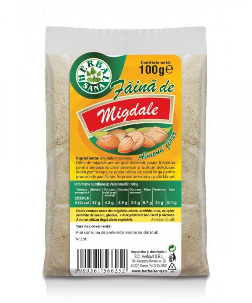 Faina de Migdale, 100 g, Herbavit 0