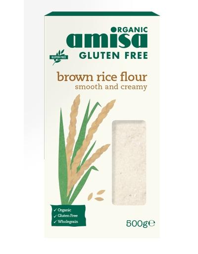 Faina de orez brun fara gluten eco 500g AMISA 0