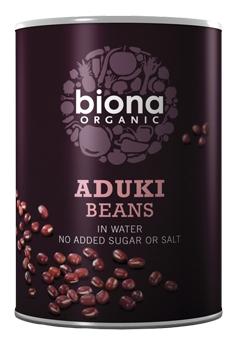 Fasole azuki boabe conserva bio 400g Biona 0