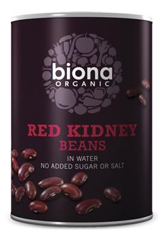 Fasole rosie Red Kidney boabe conserva bio 400g Biona 0