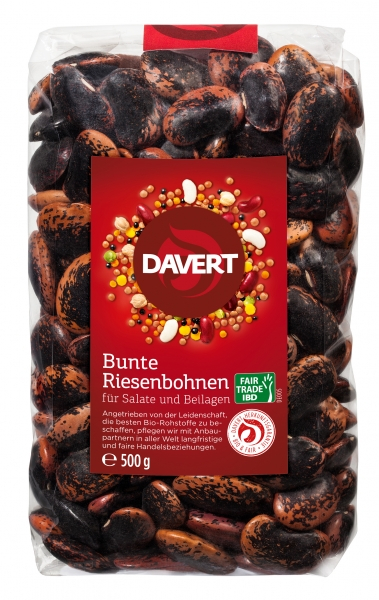 Fasole uriasa colorata bio, Fairtrade, 500g DAVERT 0